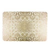 Design Imports Lace Placemats in Golden (Set of 6)