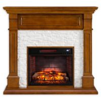 Southern Enterprises Jayben Media Infrared Fireplace in Dark Sienna