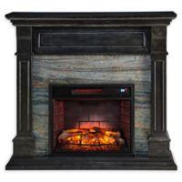 Southern Enterprises Jayben Media Infrared Fireplace in Smoked Ash