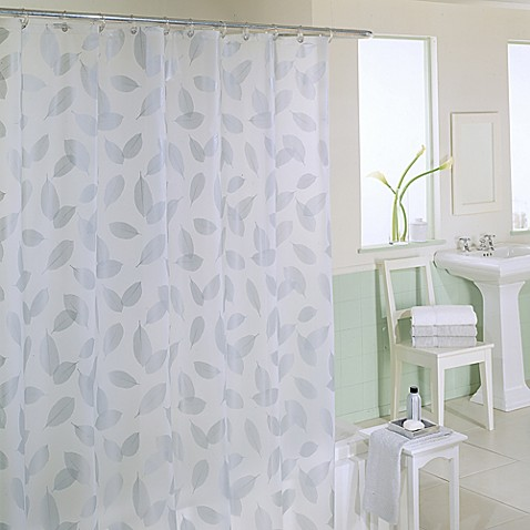 Modern Leaf 70 Inch X 72 Inch Silver Shower Curtain Bed