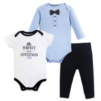 Hudson Baby® Size 6-9M 3-Piece Little Gentleman Bodysuit and Pants Set
