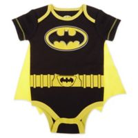 Warner Brothers® Batman® Size 6-9M Caped Bodysuit in Black