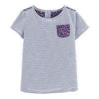 carter's® Size 2T Navy Stripe Short Sleeve Top