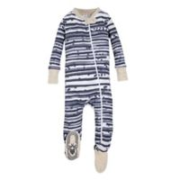 Burt's Bees Baby® Size 0-3M Starry Stripes Footie in Blue