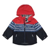 OshKosh B'gosh® Size 3-6M Colorblock Jacket in Red/Navy
