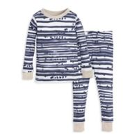 Burt's Bees Baby® Size 2T 2-Piece Starry Stripes Pajama Shirt and Pants Set in Blue