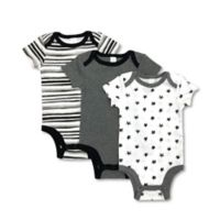 Modern Baby® Newborn 3-Pack Grey Stars Bodysuits