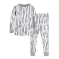 Burt's Bees Baby® Size 2T 2-Piece Guide the Way Pajama Shirt and Pants Set in Grey