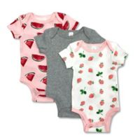 Size 6M 3-Pack Watermelon Fruits Bodysuits