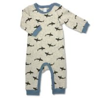 Modern Baby® Newborn Sharks Coverall in Beige Multi