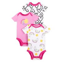 Lamaze® Size 3M 3-Pack Heart and Rainbow Bubble Rompers