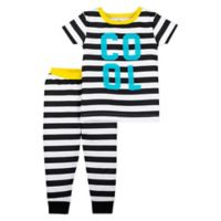 Lamaze® Size 24M 2-Piece Organic Cotton Cool Pajama Set in Black/White