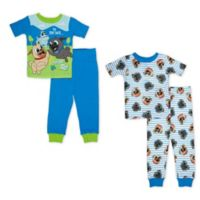 Disney® Size 4T 4-Piece Puppy Dog Pals Pajama Set in Blue/White