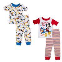 Disney® Size 3T 4-Piece Mickey Mouse Adventure Pals Pajama Set