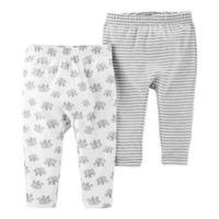 Little Planet™ Organic by carter's® Newborn 2-Pack Elephant Pants