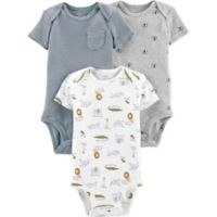Little Planet™ Organic by carter's® Size 9M 3-Pack Animal Bodysuits