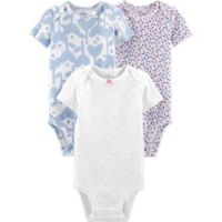 Little Planet™ Organic by carter's® Size 6M 3-Pack Floral Bodysuits