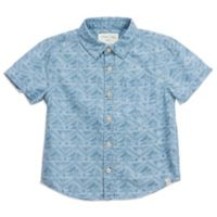 Sovereign Code® Size 24M Geometric Chambray Shirt in Blue