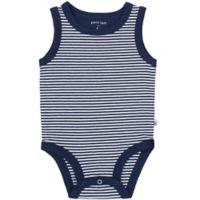 Petit Lem® Size 6M Striped Organic Cotton Bodysuit in Navy