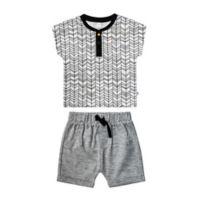 Petit Lem® Size 3M Geometric Print 2-Piece Tee and Short Set