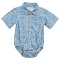 Sovereign Code™ Size 3-6M Geometric Print Short Sleeve Chambray Bodysuit