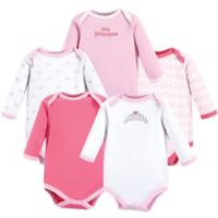 Luvable Friends® Size 9-12M 5-Piece Tiara Long Sleeve Bodysuits
