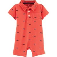 carter's® Size 9M Car Polo Romper in Red