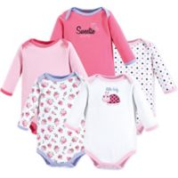 Luvable Friends® Size 9-12M 5-Piece Sweetie Long Sleeve Bodysuits