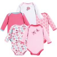 Luvable Friends® Size 9-12M 5-Piece Butterfly Long Sleeve Bodysuits