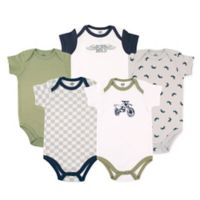 Luvable Friends® Size 12-18M 5-Pack Dirt Bike Bodysuits