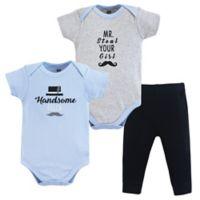 Hudson Baby® Size 3-6M 3-Piece Handsome Fella Bodysuits & Pants Set
