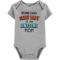 carter's® Size 9M Great Kid Bodysuit in Heather Grey
