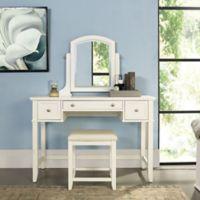 Modern Marketing Vista Vanity and Mirror in White