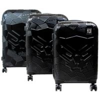 ful® Marvel® 3-Piece Black Panther Icon Molded Hard Sided Luggage Set in Black