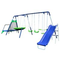 Sportspower Mountain View Swing, Slide and Trampoline