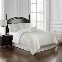 Waterford® Landon Queen Comforter Set in White