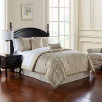 Waterford® Landon Queen Comforter Set in Gold