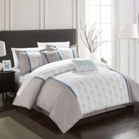 Chic Home Lystra 6-Piece Queen Comforter Set in Grey
