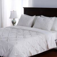 Berkshire Blanket® Pleated Suedemink™ 2-Piece Twin Comforter Set in Cream