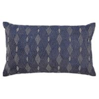 Callisto Home Modern Oblong Throw Pillow in Navy