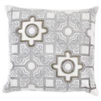 Callisto Home Moroccan Square Throw Pillow in Silver