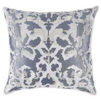 Callisto Home Modern Square Throw Pillow in Silver
