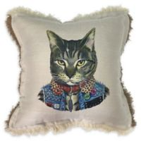 Sagamore Cat Print Square Throw Pillow