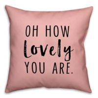 Designs Direct Oh How Lovely Square Throw Pillow in Pink