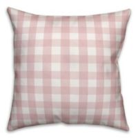 Designs Direct Buffalo Check Square Throw Pillow in Pink