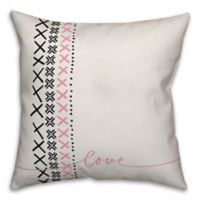 Designs Direct Modern Love Square Throw Pillow in Pink