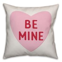 Designs Direct Be Mine Square Throw Pillow in Pink