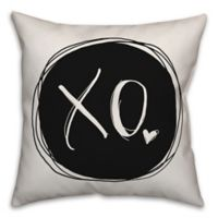 Designs Direct XO Square Throw Pillow in Black