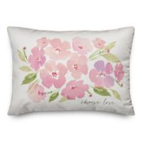 Designs Direct Choose Love Oblong Throw Pillow in Pink