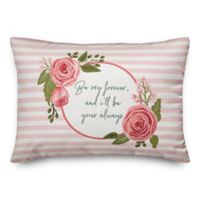 Designs Direct Be My Forever Oblong Throw Pillow in Pink